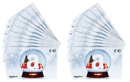 Amazon.de Geschenkkarte - 20 Karten zu je 10 EUR (Schneekugel) - 1