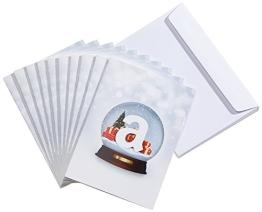 Amazon.de Grußkarte mit Geschenkgutschein - 10 Karten zu je 25 EUR (Schneekugel) - 1